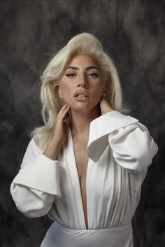 "ladyxgaga: "" Lady Gaga photographed by Jay L. Clendenin for LA Times "" ""I never cried, but I would just hold on to my records for dear life and say, 'You'll pry them from my cold, dead fingers,'"" Gaga. Divas, Musica Lady Gaga, Fotos Lady Gaga, Sara Montiel, Lady Gaga Pictures, Mode Ootd, A Star Is Born, Celine Dion, Blake Lively"
