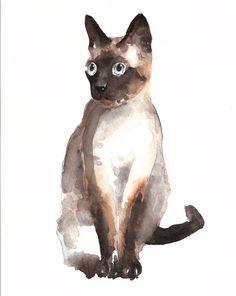 Cat - Dimdi #watercolor