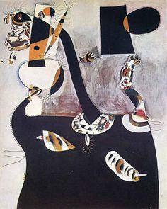 'Sitzende Frau II', 1938 von Joan Miro (1893-1983, Spain)