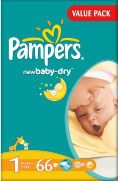 Pampers Newbaby Value Pack New Born Size 1 (2-5kg)- 66 Diapers
