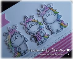 Hi Lovely Friends... I spent a lovely afternoon today in fantasy-land, colouring unicorns!! I really enjoyed myself, so much so th...