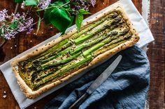 Glutenfree spring tarte with asparagus.