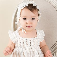 Marita Silk Christening Dress (White)   Baptism Outfits & Dresses