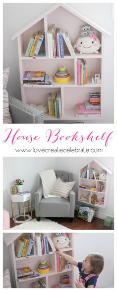 DIY House Bookshelf