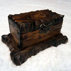 Шкатулка в стиле рустик (модель №1) – купить или заказать в интернет-магазине на Ярмарке Мастеров | Шкатулки из массива состаренного дерева. Размер …