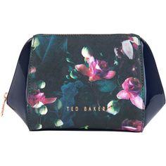 Ted Baker Aslyn Make-Up Bag, Dark Blue ($55) ❤ liked on Polyvore