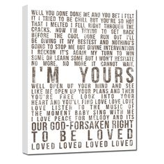 Word Art lyrics favorite song Wedding vow by GeezeesCustomCanvas, $140.00