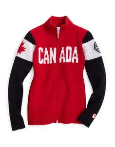 SLIDESHOW: All the clothing Team Canada will be wearing at the 2014 Sochi Olympics Sweater Hoodie, Long Sleeve Sweater, Sports Uniforms, Olympic Team, Figure Skating Dresses, Winter Wear, Winter Fun, Winter Olympics, Red Sweaters