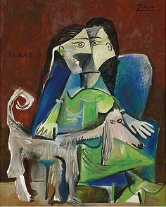 Pablo Picasso - Mujer con perro