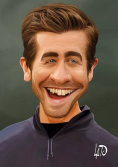Jake Gyllenhaal FOLLOW THIS BOARD FOR GREAT CARICATURES OR ANY OF OUR OTHER CARICATURE BOARDS. WE HAVE A FEW SEPERATED BY THINGS LIKE ACTORS, MUSICIANS, POLITICS. SPORTS AND MORE...CHECK 'EM OUT!! Anthony Contorno Sr