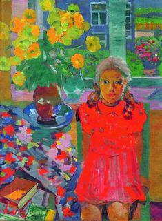 Kārlis Neilis. Meitene pie galda. 1942. Audekls, eļļa. 100x82. Tukuma Mākslas muzeja kolekcija.