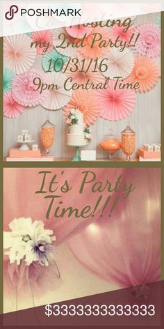 I'm Co-Hosting my 2nd Poshmark Party! Yay!!!!! Monday, October 31, 2016 at 9pm Central Standard Time.   Only 100% Posh compliant closets will be considered for a Host Pick. Wanting a Host Pick,  comment below. Other