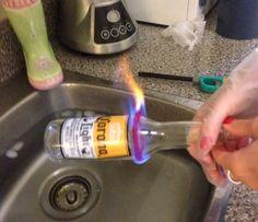 DIY Easy Melt Glass Bottles into Cups!
