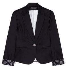 Tailored jacket with bow