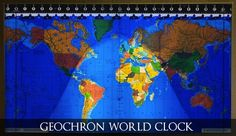 This Geochron world clock isn't a mere time piece, it's the only instrument of its kind to simultaneously show the time, indicate season, and display the di