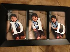"""Fathers Day! Each kid holds a letter! CUTE! -- Maybe both boys will hold a """"d"""" & and girl holds the """"a"""""""