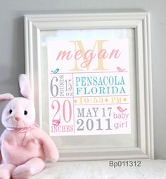 Nursery Decor Custom Baby print Sweet bird  by alovelydetail, $24.00
