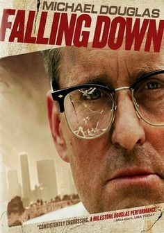 Falling Down (1993) Bill Foster (Michael Douglas) is having a very bad day: He's been fired from his job, gets stuck in a traffic jam and is forced to walk through the sizzling L.A. streets. As the obstacles mount and his temper frays, Foster begins lashing out at society's injustices. Joel Schumacher's dark comedy also stars Robert Duvall as an overzealous cop who gets wind of Foster's near-psychotic rampage and sets out to bring him down.<3