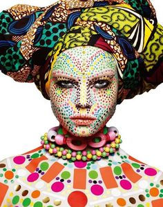 Breaking out in spots Photo of  Dasha Zharova by Rankin