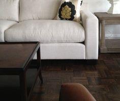 Refinishing Parquet Flooring In Small Living Room