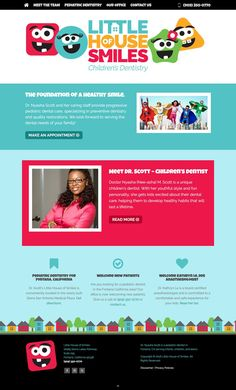 little house of smiles website design development by doodl