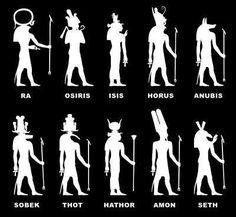 ACTIVITE - Silhouettes de dieux égyptiens - A décliner en vidéo inverse pour un théâtre d'ombres