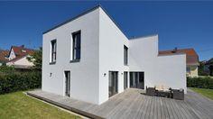 Terrassenansicht Haus Jacobi | Bauhaus | Fertighaus WEISS