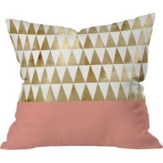 Gold Triangles Pillow