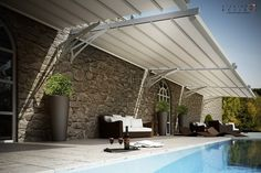 Pergola For Small Patio Pergola En Kit, Pergola Diy, Steel Pergola, Pergola Attached To House, Pergola With Roof, Covered Pergola, Pergola Plans, Patio Roof, Pergola Ideas