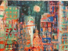 """New York Cityscape Original Signed Painting 22x28"""""""