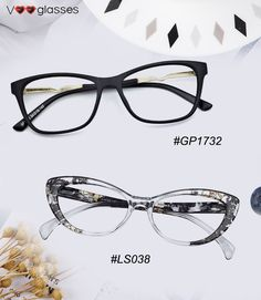 32a116c9c87 Fashionable Cat-eye Glasses Made of excellent Acetate These ...