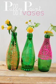 Puffy Paint Vases – DIY