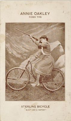 Sterling Bicycle AD (c1890~c1900), featuring Annie Oakley