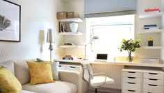 Contemporary home office / study interior