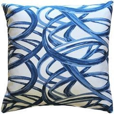 Fun and lively, the Flair Blue Throw Pillow would make a great addition to a family room or any part of the house where you like to entertainment. The blue swirls are set against an off-white background for a dramatic, contemporary look. Blue Throws, Blue Throw Pillows, Blue And White Pillows, Swirls, Decorative Pillows, Family Room, Entertaining, Make It Yourself, Contemporary