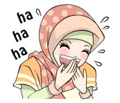 Muslim Greeting, Cute Drawings Of Love, Free Emoji, Islamic Cartoon, Best Profile, Hijab Cartoon, Line Sticker, Wallpaper Pictures, Hijabi Girl