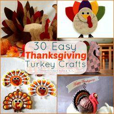 30 Easy Thanksgiving Turkey Crafts | AllFreeHolidayCrafts.com