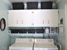 Neat laundry room