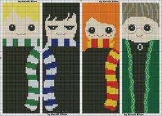 Harry Potter Crochet, Hp Harry Potter, Cross Stitching, Cross Stitch Embroidery, Cross Stitch Patterns, Stitch Character, Cross Stitch Bookmarks, Sewing Art, Tapestry Crochet