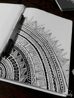 Pattern. Узоры. Easy Mandala Drawing, Mandala Doodle, Mandala Art Lesson, Doodle Art Drawing, Mandala Artwork, Zentangle Drawings, Cool Art Drawings, Art Drawings Sketches, Doodle Art Designs