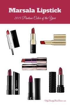 Round 2 of our 2015 Pantone Color of the Year best beauty product roundup. Here are some of our favorite Marsala lipsticks. You can't go wrong with a dark sexy red pout! Givenchy Rouge Inter...