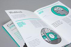 99U Quarterly Magazine :: Issue No.3 on Behance  big illustration circles guide the eye to a rhythm