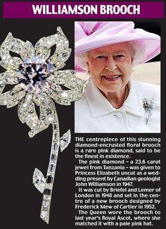 pink diamond brooch