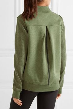 Nike - Tech Fleece Perforated Cotton-blend Jersey Jacket - Army green - medium