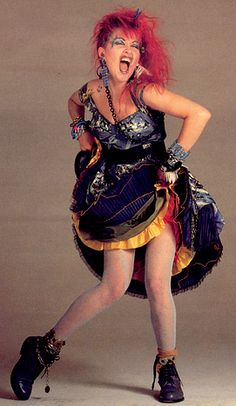 Cyndi Lauper - when I was little I wanted my hair just like hers.  My parents wouldn't let me.  I don't know why.....