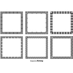 Greek Key Border Style Frames ❤ liked on Polyvore featuring frames, backgrounds, borders and picture frame