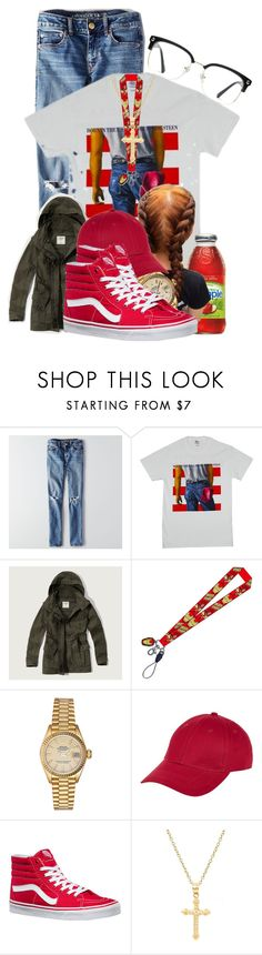 """""""Money Longer - Lil Uzi Vert"""" by doggydoddyfroggymoppy ❤ liked on Polyvore featuring American Eagle Outfitters, Abercrombie & Fitch, Rolex, New Look, Vans, Pori and GlassesUSA"""