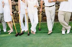 Croquet party!  Everyone dresses in whites