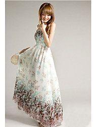 Bohemia Blommor Chiffon Camisole klänning (vit)