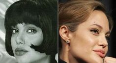 """Angelina Jolie says she is """"plastic surgery free"""". However, photo evidence would suggest that the actress has undergone plastic surgery for a nose job procedure. Angelina Jolie Nose Job, Angelina Jolie Plastic Surgery, Angelina Jolie 2016, Celebrity Plastic Surgery, Rhinoplasty Surgery, Nose Surgery, Job Pictures, Girl Pictures, Photos"""